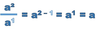 a squared divided by a equals a