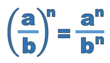 The power of an algebraic fraction is equal to the numerator and the denominator both raised to the power
