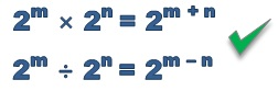 the correct law of exponents